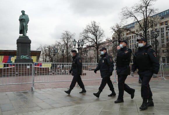 В центре Москвы КПРФ проводит несогласованную акцию.Полиц...