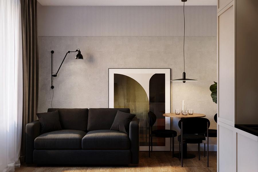 Проект маленькой квартиры-студии 22,5 кв.