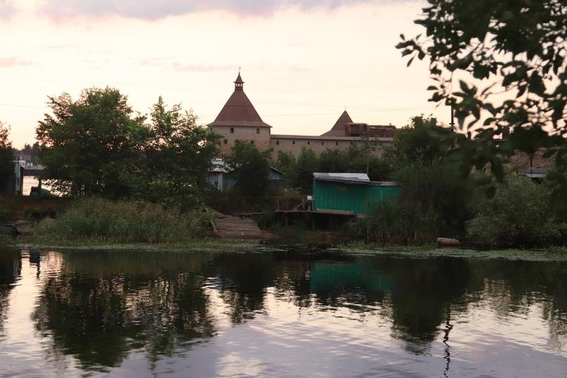 Шлиссельбург. Вид на крепость Орешек