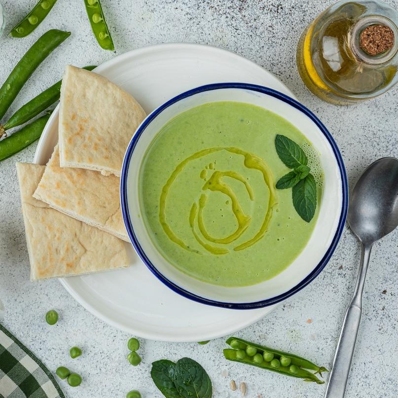 Суп с зеленым горошком и мятой 🌱