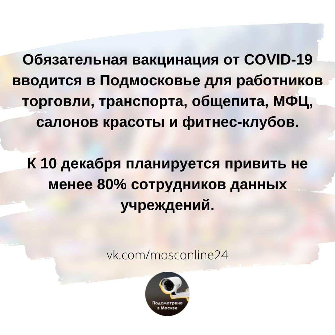 Руководители данных предприятий должны организовать до 10 ноября 2021 года вакцинацию от коронавируса первым компонентом препарата, а к 10 декабря 2021 года – вторым компонентом.