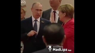 Меркель , Путин - Прикол про ракеты...