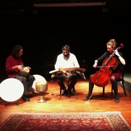 Katharina Hoffmann on Instagram Floating tones sound travel on our last concert with Reza Samani ❤ celsant @reza samani 56 concert altespfan