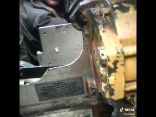 стрельба из танка (внутри)