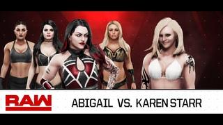 WWE Raw 2020 (Karen Starr Vs Abigail)