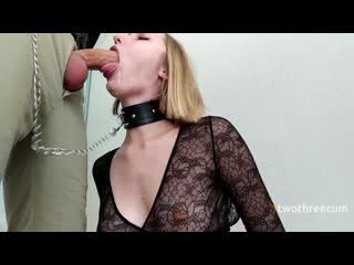 Manager Orders Escort Blonde to Fuck her Mouth Hard_1twothreecum_1080p
