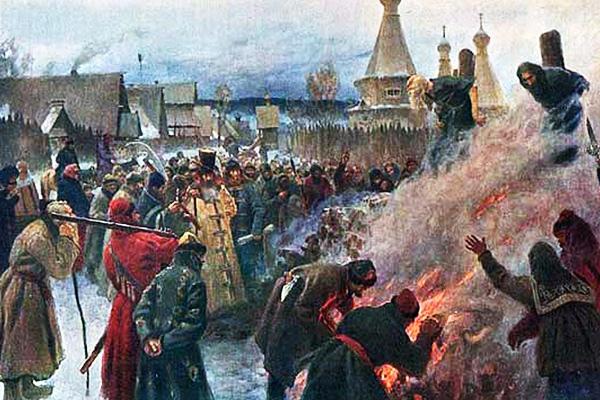 Григорий Мясоедов «Сожжение протопопа Аввакума», 1897 год