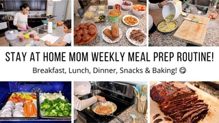 STAY AT HOME MOM OF 3 WEEKLY MEAL PREP ROUTINE! / COOK WITH ME/ Jessica Tull