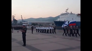 Репетиция ко Дню ВМФ в Новороссийске