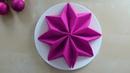 Servietten falten: Tischdeko Weihnachten - Stern falten - Weihnachtsdeko selber machen