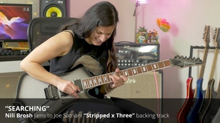 "Nili Brosh jams to Joe Satriani's ""Searching"" (Stripped x Three)"