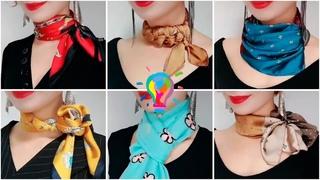 Как завязать шелковый платок - 15 способов | Как завязать шейный платок | How to tie a neckerchief