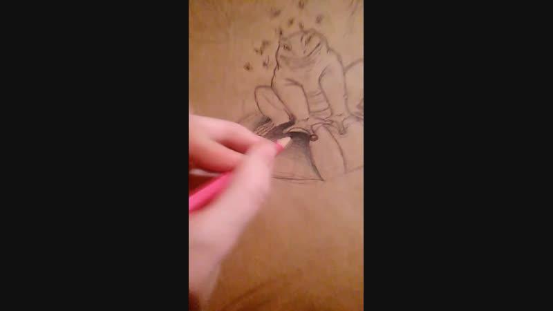 рисую жабу ааню
