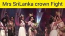 Mrs SriLanka Beauty Pageant Fight