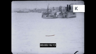 1930s Cornwall, Torpoint Ferry Crossing, Hamoaze Estuary, 16mm