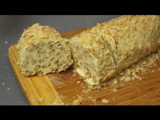 Торт Слоёное полено - как приготовить быстро, просто и вкусно в домашних условиях.