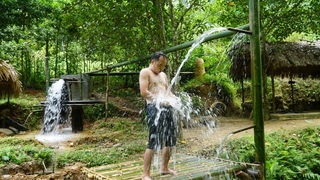 Upgrade the shower system and keep completing projects: Living alone in the mountains -