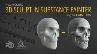 ZBrush-like Sculpting in Substance Painter? (CARVE filter tutorial)