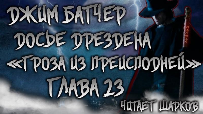 Аудиокниги Джим Батчер Досье Дрездена 1 Гроза из Преисподней Глава 23 Читает Шарков