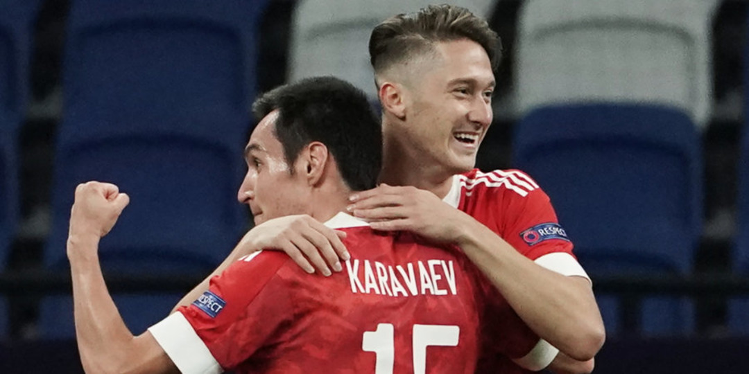 Сборная России - сборная Сербии, 3:1. Вячеслав Караваев и Антон Миранчук