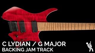 Plini Inspired Modern Progressive Metal Fusion Guitar Backing Track Jam in 5/4 C Lydian / G Major