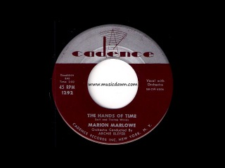 Marion Marlowe - The Hands Of Time [Cadence] 1956 Pop Oldies 45