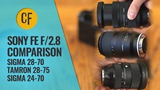 Sigma 28-70 vs. Tamron 28-75 vs. Sigma 24-70: FE-mount f/2.8 zoom lens comparison