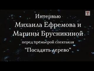 Интервью с Михаилом Ефремовым и Мариной Брусникиной перед премьерой спектакля «Посадить дерево»